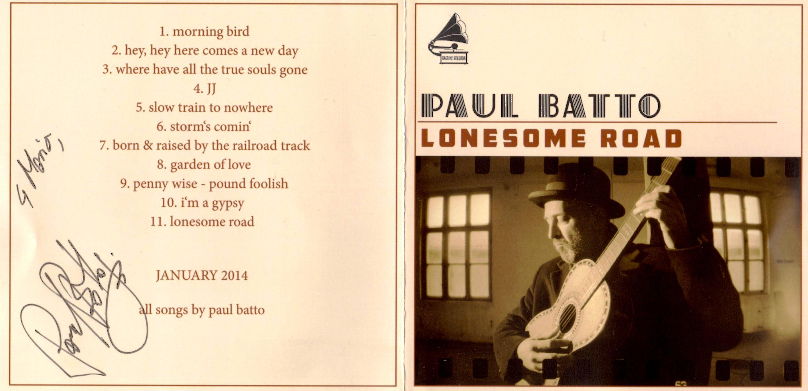 Paul Batto: Lonesome Road